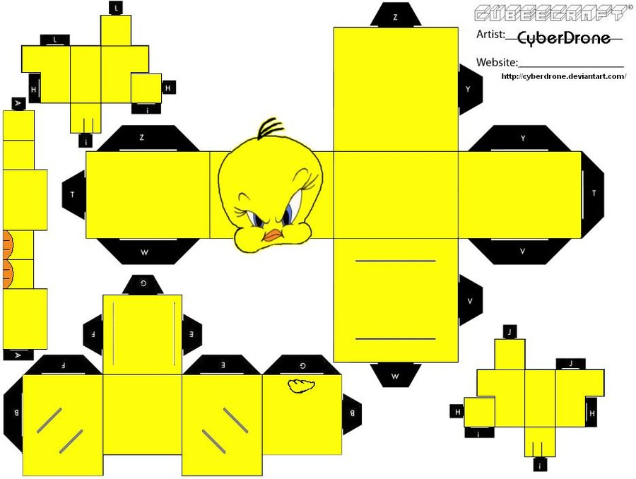 Cubee____Tweety_by_CyberDrone